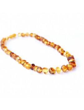 Collier ambre miel baroque pour femme