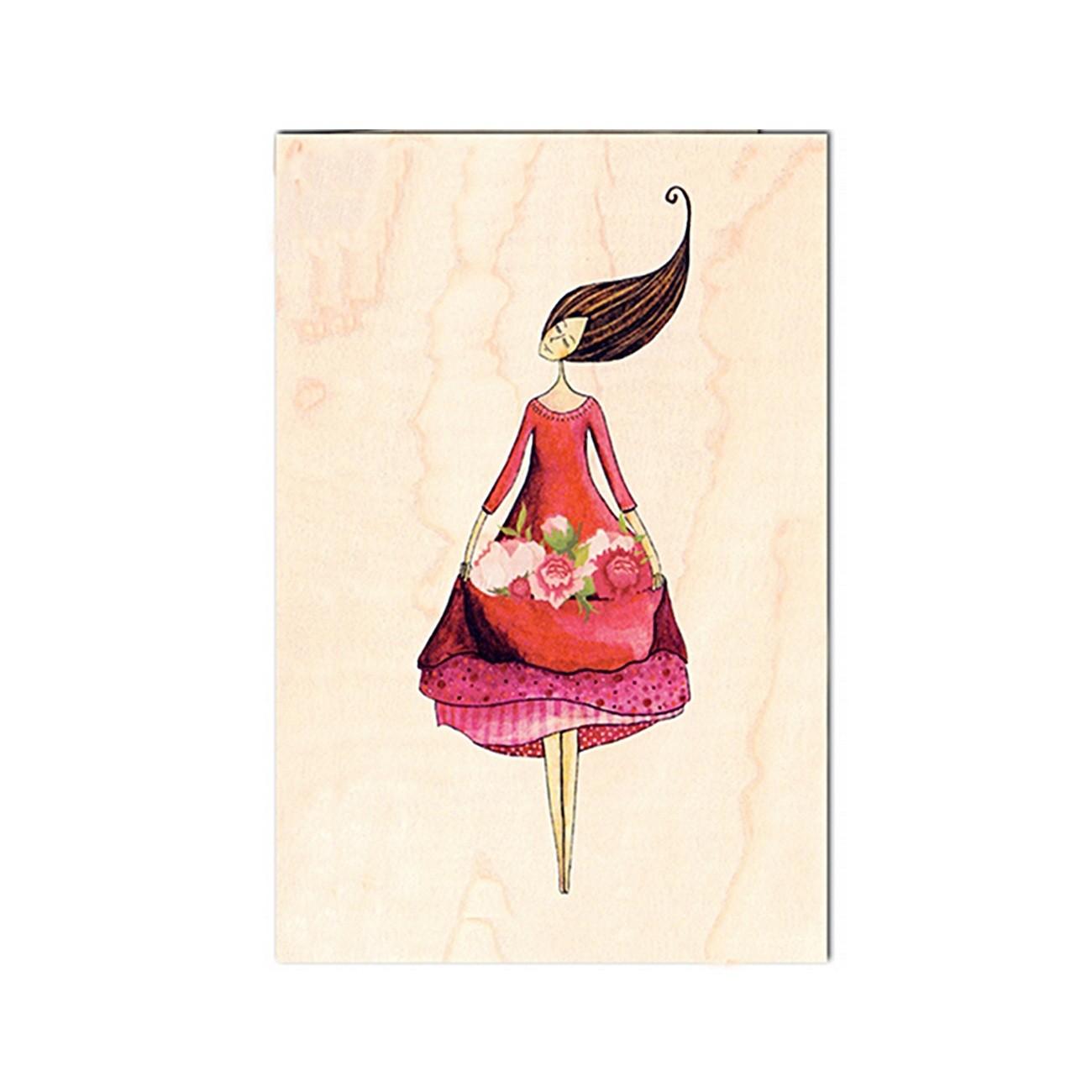 Connu Carte postale en bois naturel⎜Cozywood - Tendance Baltique YS22