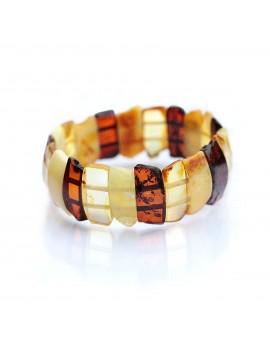 Bracelet manchette ambre multicolore