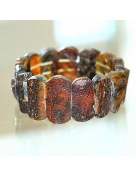 Bracelet manchette ambre...