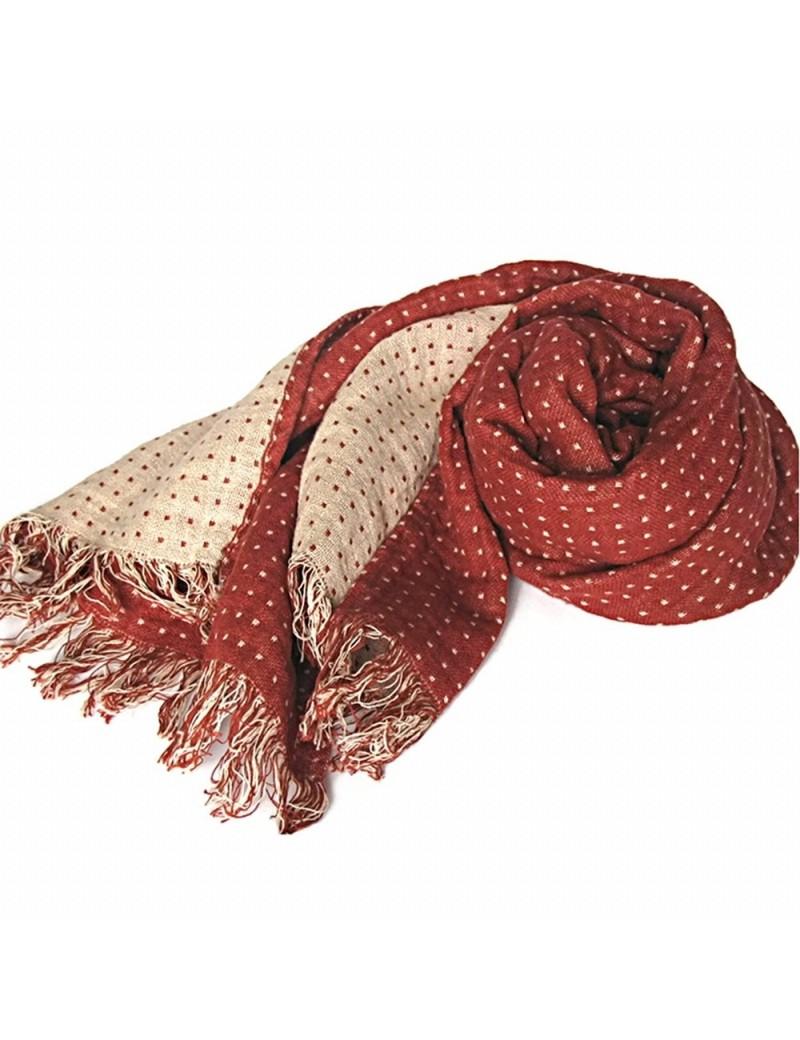 097ae3b511cf Cette élégante écharpe en mélange du lin et coton apportera de la couleur à  toutes vos tenues. Légère et souple, elle possède un autre atout   une ...