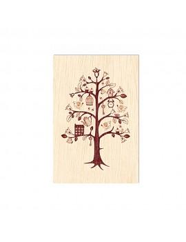 Carte de voeux en bois...