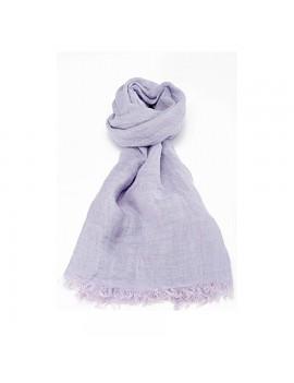 Echarpe en lin lavé violet...