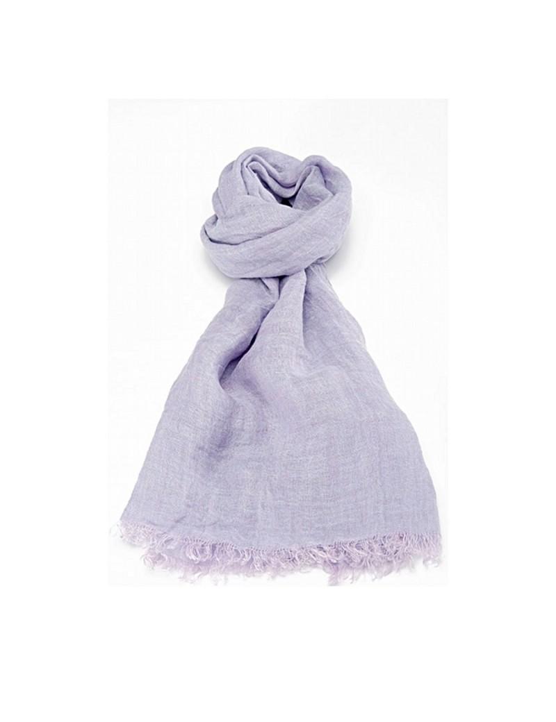 2fcbe9e6e1a9 Echarpe en lin lavé violet glycine