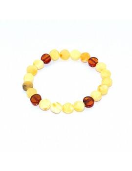 Bracelet ambre bicolore...