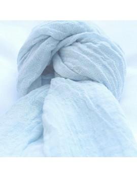 Echarpe en lin lavé bleu...