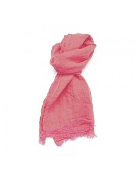Echarpe en lin lavé rose...