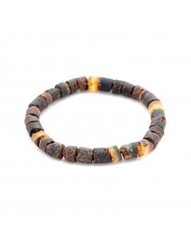 Bracelet homme ambre noir
