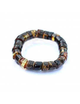 Bracelet en ambre noir...