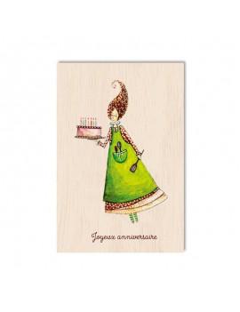 Carte postale en bois...