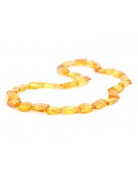 Collier en ambre citrine...
