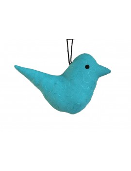 Peluche oiseau bleu brodée...
