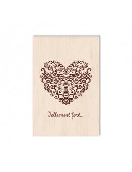 Carte de voeux en bois cœur...