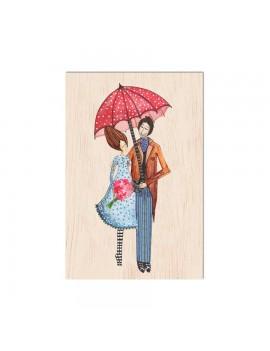 Carte de vœux en bois...