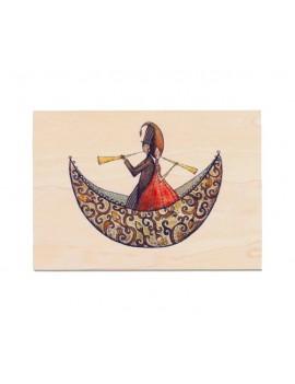 Carte de vœux en bois Que...