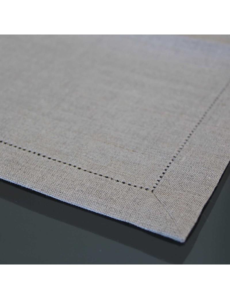 Couleur Lin Et Gris set de table en lin ajouré gris beige