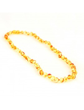 Collier ambre citrine...