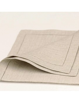 Serviette de table beige en...