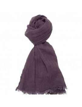 Echarpe en lin lavé violet