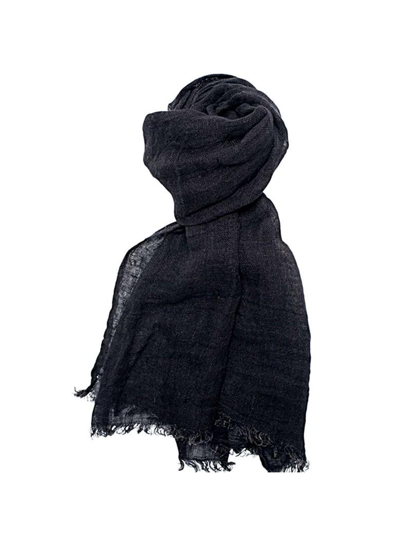 bab241481e5f Le lin lavé a un effet froissé naturel qui donne tout son charme à l écharpe .