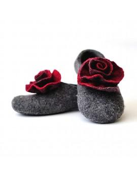 Chaussons en laine feutrée...