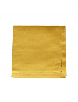 Serviette de table jaune...